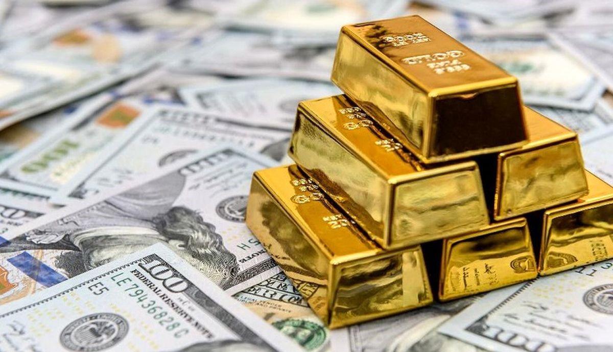شمش طلا و ارز در صرافی